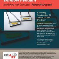Window Pendant Workshop with Fahan McDonagh
