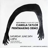 Camilla Taylor Printmaking Demo