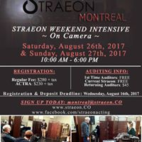 Straeon Weekend Intensive - On Camera