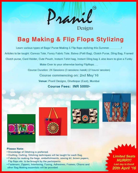 Bag Making & Flip Flop Stylizing Workshop at Mumbai, India