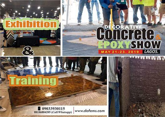 Decorative Concrete & Epoxy Show at LCCI Building, Lagos