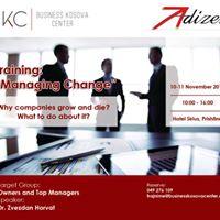 Training Event Managing Change