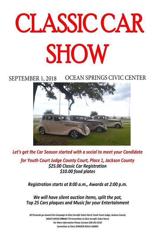 Social And Classic Car Show Fundraiser At Elect Jennifer Sekul - Car show jackson ms