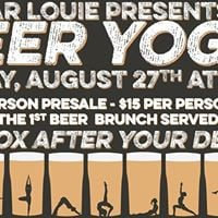 Beer Yoga at Bar Louie