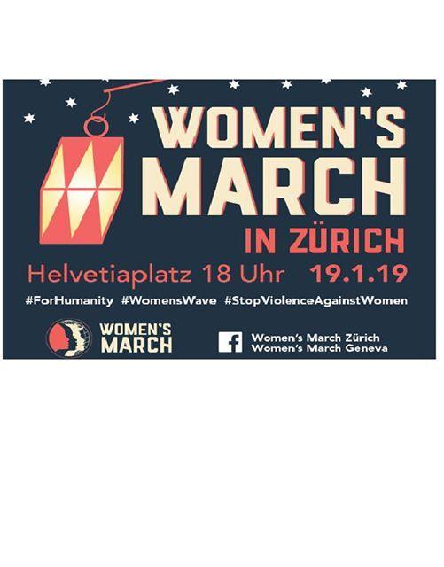 Womens March 19.1.19 Anniversary gegen Gewalt an Frauen