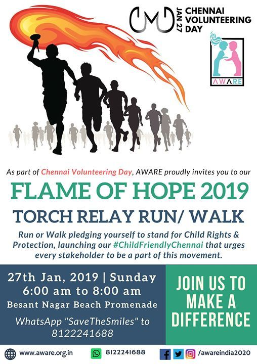 FlameOfHope2019 - Torch Relay RunWalk towards Child Safety