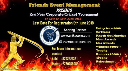 2nd Year Corporate Cricket Tournament