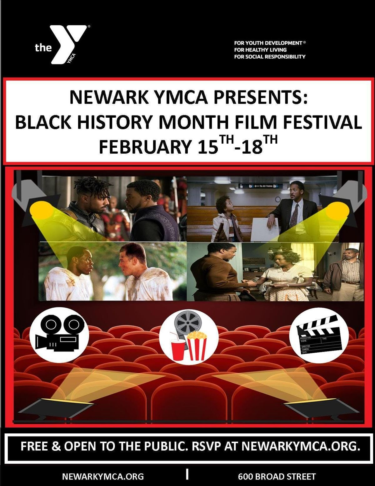Newark YMCA Black History Month Movie Marathon Day 1