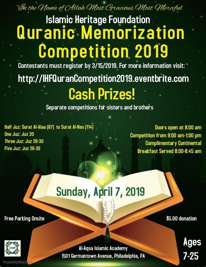 IHF Quranic Memorization Competition at Al-Aqsa Islamic