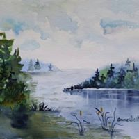 Painting with Anne Siciliano in Atikokan Ont