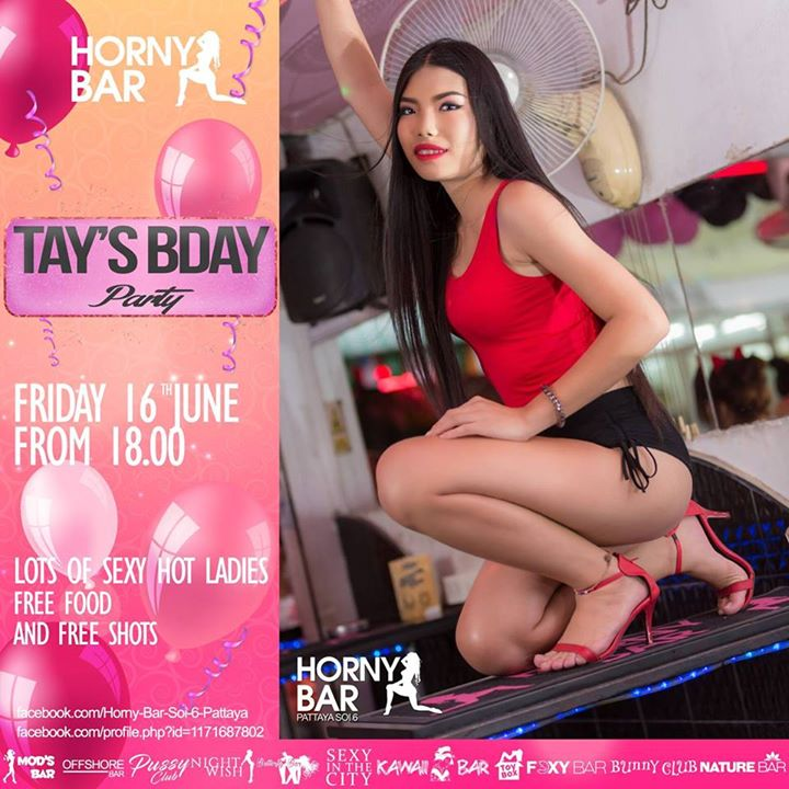 Tays bday at Horny Bar Soi 6 Pattaya, Pattaya