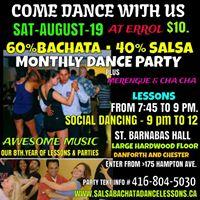 60%Bachata40%Salsa Dance PartyAUG-19