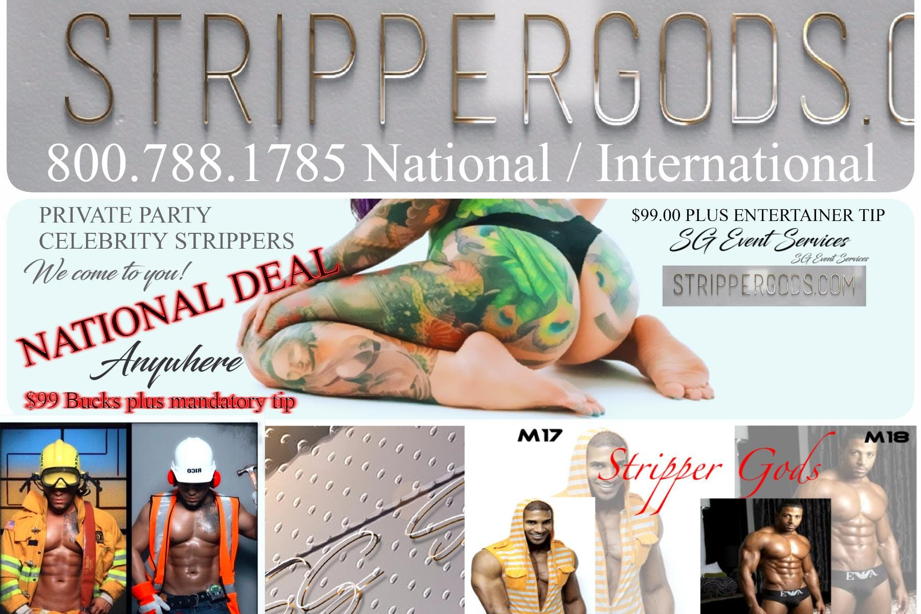 NYC Strippers and Black Male Strippers for private parties Strippergods.com