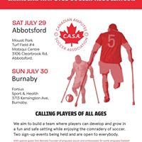 Canadian Amputee Soccer Open Day