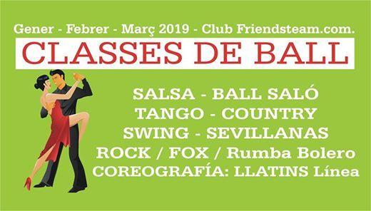 Classes de ball. Salsa Sevillanes Rock Llatins Sal