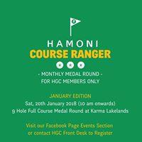 Hamoni Course Ranger Jan18