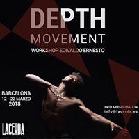 Edivaldo Ernesto Barcelona Depth Movement 2018