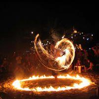CommUNITY Fire Flow arts acro jam  drum circle