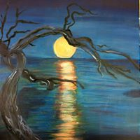 Painting Under The Moonlight for Canadian Aid for Chernobyl