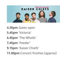Kaiser Chiefs &amp Feeder - Bedford Park Concerts &amp The Little Big Ale Co