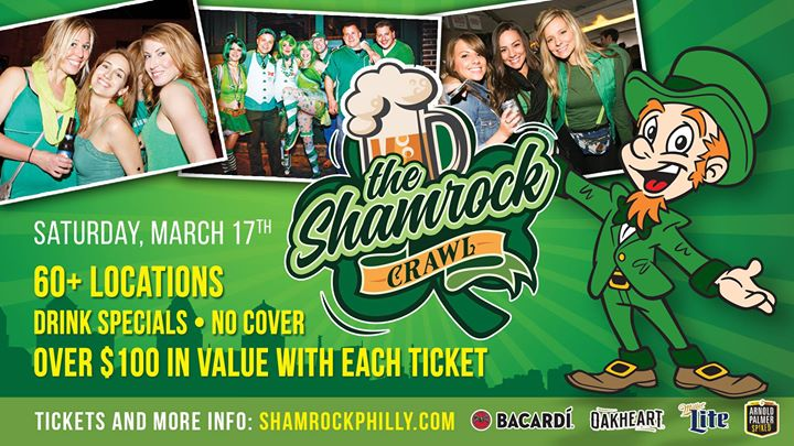 Today The Shamrock Crawl - St Patricks Day Bar Crawl in Philly