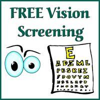 Free Vision Screening- 55 &amp older