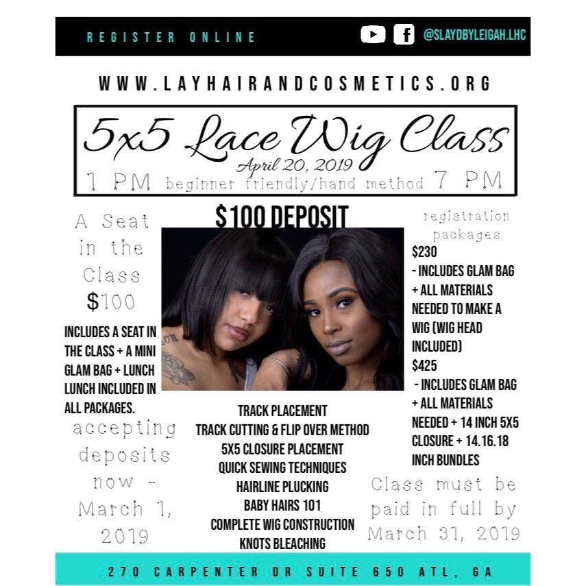 Hands On Lace Wig Class