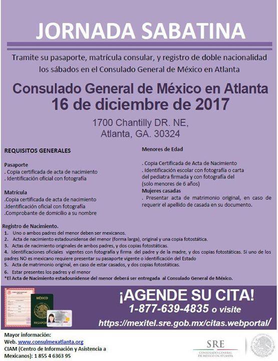 Jornada Sabatina at Consulado General de México en Atlanta