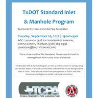 TxDOT Standard Inlet &amp Manhole Program