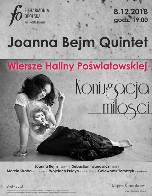 Koniugacja Miłości Joanna Bejm Quintet At Filharmonia