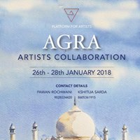 Artists Collaboration in Agra