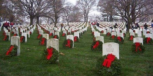 Volunteer at Arlington National Cemetery for Wreath RetrievalClean-Up Day