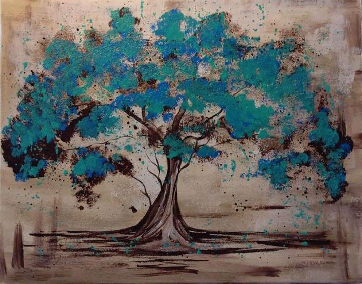 Teal Tree Painting Event At Kenosha Fusion On Thursday 8