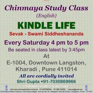 Kindle Life Chinmaya Study Class every Saturday in Kharadi