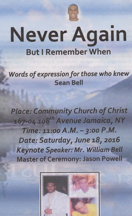 Special Tribute to Sean Bell at Community Church Of Christ