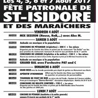 Festin de Saint-Isidore du 4 au 7 aot 2017