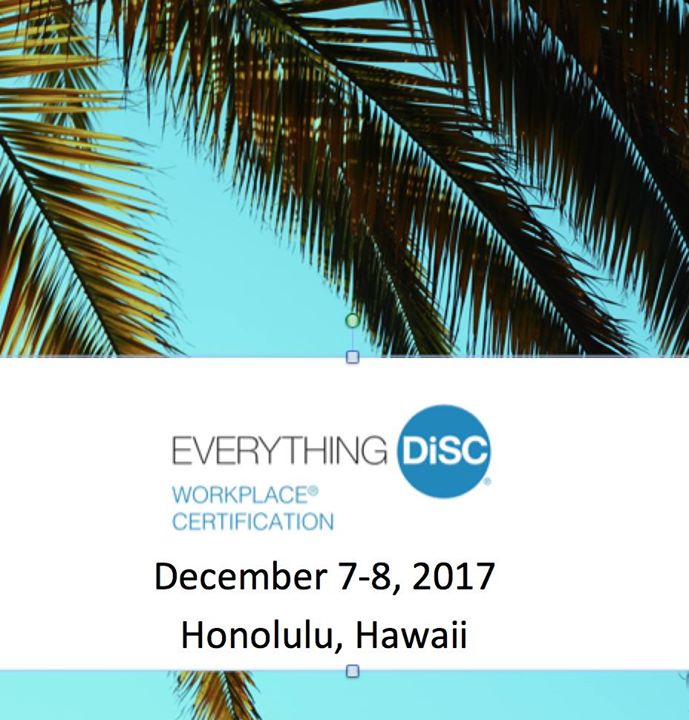 Everything Disc Workplace Certification In Hawaii At The Boxjelly