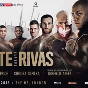 Whyte Vs Rivas Saturday 20th July From 7pm