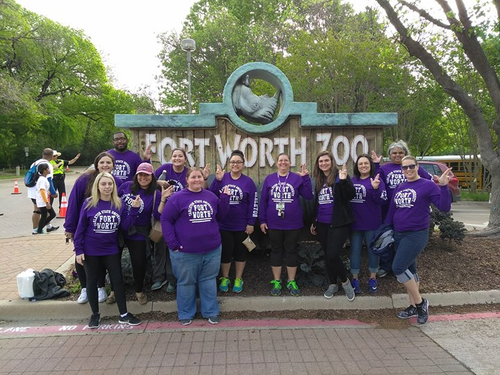 Water Station Volunteers at the Fort Worth Zoo Run