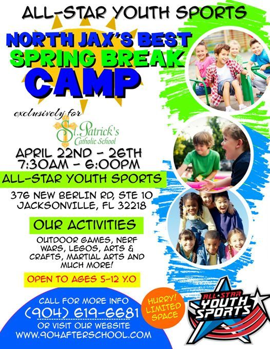 St.Patricks Catholic School Spring Break