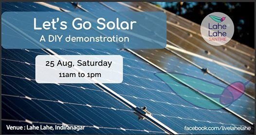Lets Go Solar  A DIY demonstration