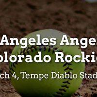 Spring Training Los Angeles Angels of Anaheim vs. Colorado Rock