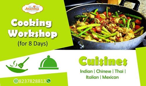 Cooking Hands-on Workshop for 08 Days