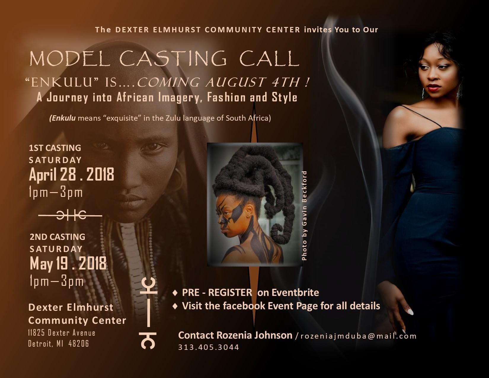 Model Casting Call/ENKULU Journey into African Imagery
