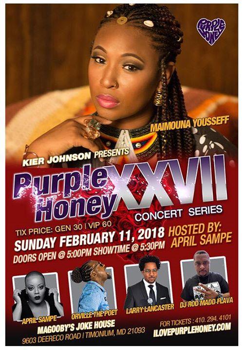 Purple Honey XXVII At Magoobys Joke House Timonium
