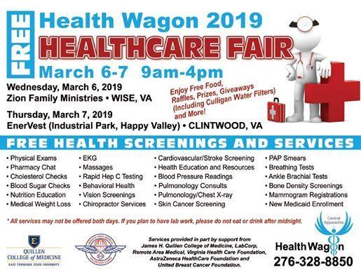 Health Wagons 2019 Free Health Fair at The Health Wagon