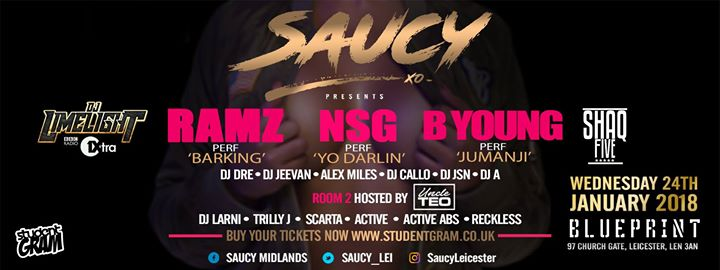 Saucy ramz nsg b young limited tickets remaining blueprint leicester 97 churchgate leicester united kingdom malvernweather