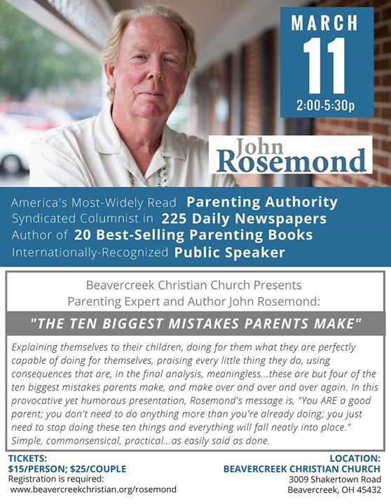 Ten Common Mistakes Parents Make During >> John Rosemond The Ten Biggest Mistakes Parents Make At