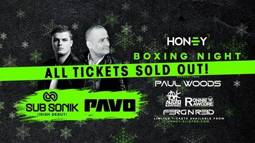 Boxing Night at Club Honey - SOLD OUT
