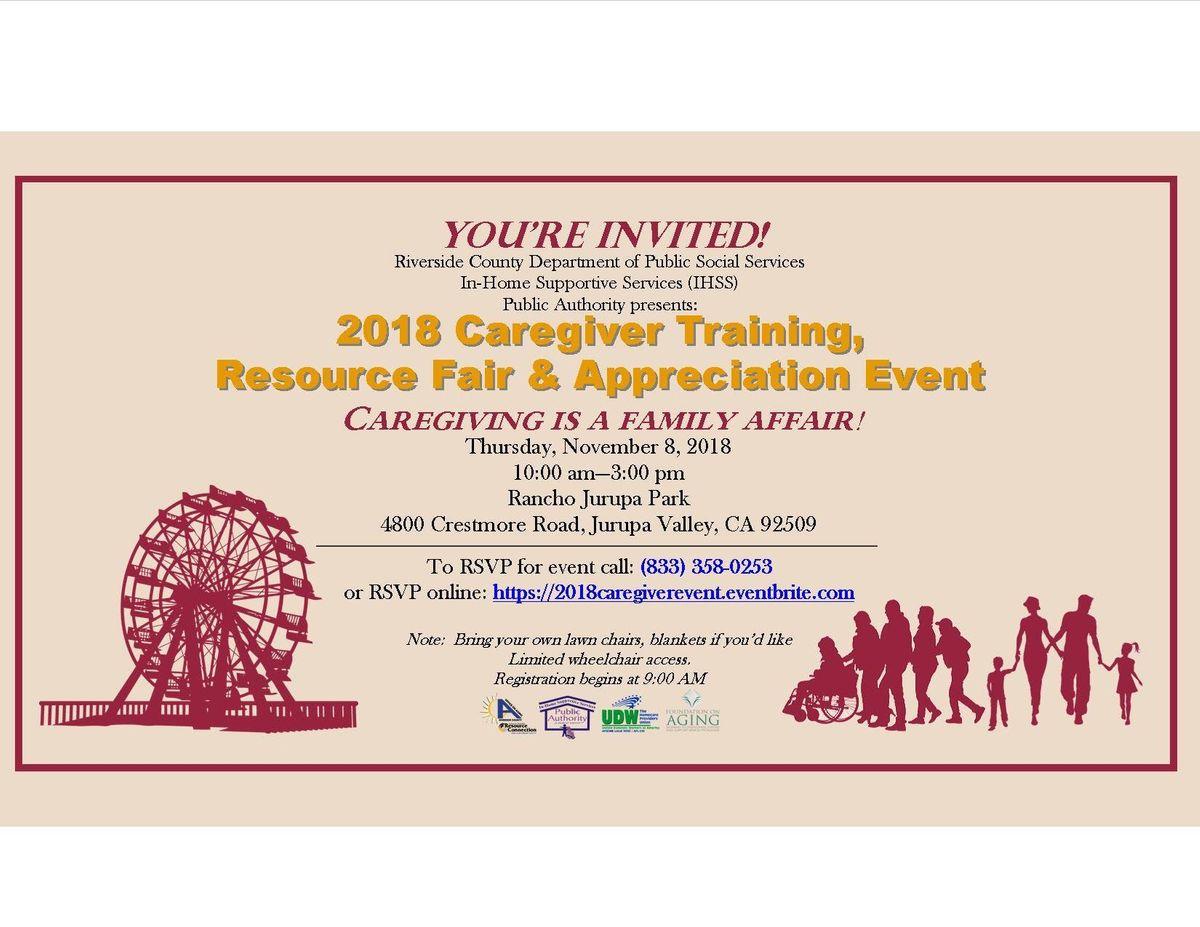 2018 Riverside County Caregiver Training Appreciation Event